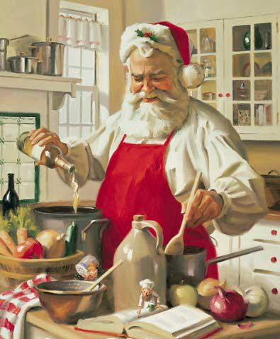 santa claus cooking