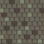 beige and gray roof shingles