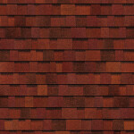 terracotta red roof shingles